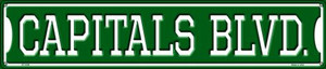 Capitals Blvd Wholesale Novelty Metal Street Sign ST-1049