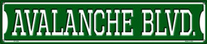 Avalanche Blvd Wholesale Novelty Metal Street Sign ST-1054