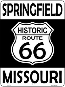Springfield Missouri Historic Route 66 Wholesale Novelty Metal Parking Sign P-2780