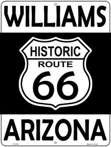 Williams Arizona Historic Route 66 Wholesale Novelty Metal Parking Sign P-2799