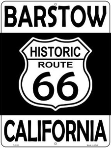 Barstow California Historic Route 66 Wholesale Novelty Metal Parking Sign P-2805