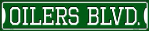 Oilers Blvd Wholesale Novelty Metal Street Sign ST-1058