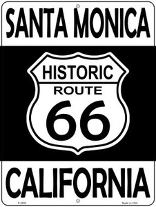 Santa Monica California Historic Route 66 Wholesale Novelty Metal Parking Sign P-2808