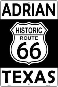 Adrian Texas Historic Route 66 Wholesale Novelty Metal Large Parking Sign LGP-2792