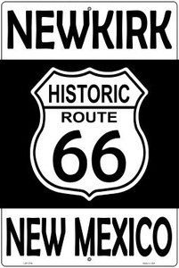 Newkirk New Mexico Historic Route 66 Wholesale Novelty Metal Large Parking Sign LGP-2794