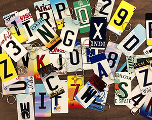 Pack of 144 Assorted Wholesale Novelty Metal Letters and Number Key Chains KC-Pack-01