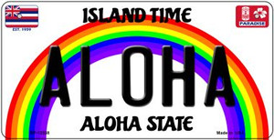 Aloha Hawaii Wholesale Novelty Metal Bicycle Plate BP-12538