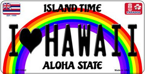 I Love Hawaii Wholesale Novelty Metal Bicycle Plate BP-12542