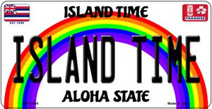 Island Time Hawaii Wholesale Novelty Metal Bicycle Plate BP-12544