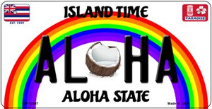 Aloha Coconut Hawaii Wholesale Novelty Metal Bicycle Plate BP-12547