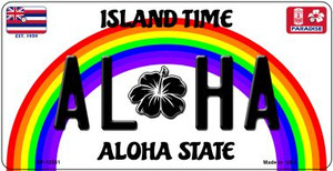 Aloha Hawaii Wholesale Novelty Metal Bicycle Plate BP-12551