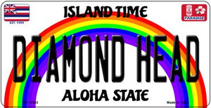 Diamond Head Hawaii Wholesale Novelty Metal Bicycle Plate BP-12553
