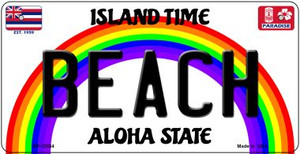 Beach Hawaii Wholesale Novelty Metal Bicycle Plate BP-12554