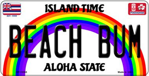 Beach Bum Hawaii Wholesale Novelty Metal Bicycle Plate BP-12555