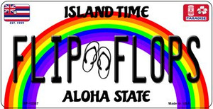 Flip Flops Hawaii Wholesale Novelty Metal Bicycle Plate BP-12557