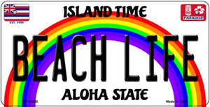 Beach Life Hawaii Wholesale Novelty Metal Bicycle Plate BP-12565