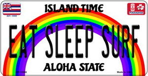 Eat Sleep Surf Hawaii Wholesale Novelty Metal Bicycle Plate BP-12566