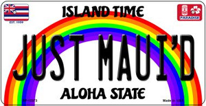Just Mauid Hawaii Wholesale Novelty Metal Bicycle Plate BP-12573