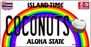 Coconuts Hawaii Wholesale Novelty Metal Bicycle Plate BP-12576