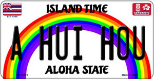A Hui Hou Hawaii Wholesale Novelty Metal Bicycle Plate BP-12578