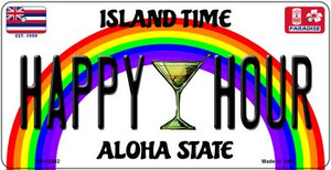 Happy Hour Hawaii Wholesale Novelty Metal Bicycle Plate BP-12582