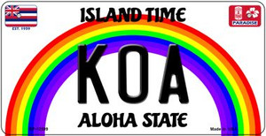Koa Hawaii Wholesale Novelty Metal Bicycle Plate BP-12599