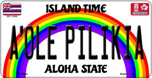 A Ole Pilikia Hawaii Wholesale Novelty Metal Bicycle Plate BP-12604