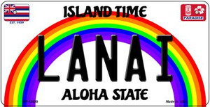 Lanai Hawaii Wholesale Novelty Metal Bicycle Plate BP-12609