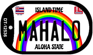 Mahalo Hawaii Wholesale Novelty Metal Dog Tag Necklace DT-12536