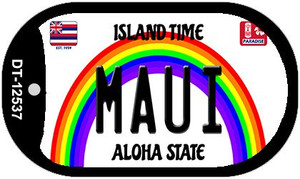 Maui Hawaii Wholesale Novelty Metal Dog Tag Necklace DT-12537