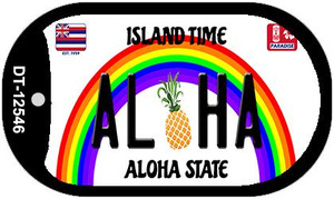 Aloha Pineapple Hawaii Wholesale Novelty Metal Dog Tag Necklace DT-12546