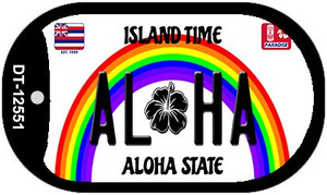 Aloha Hawaii Wholesale Novelty Metal Dog Tag Necklace DT-12551