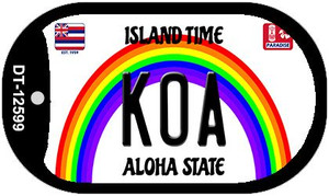 Koa Hawaii Wholesale Novelty Metal Dog Tag Necklace DT-12599