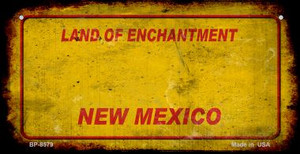 New Mexico Rusty Blank Wholesale Novelty Metal Bicycle Plate BP-11716