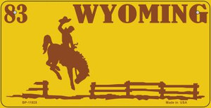 Wyoming Yellow Wholesale Novelty Metal Bicycle Plate BP-11925