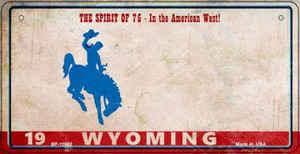 Wyoming Rusty Wholesale Novelty Metal Bicycle Plate BP-11932