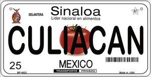 Culiacan Mexico Wholesale Novelty Metal Bicycle Plate BP-4823