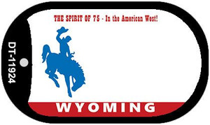 Wyoming Wholesale Novelty Metal Dog Tag Necklace DT-11924