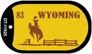Wyoming Yellow Wholesale Novelty Metal Dog Tag Necklace DT-11925