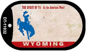 Wyoming Rusty Wholesale Novelty Metal Dog Tag Necklace DT-11932