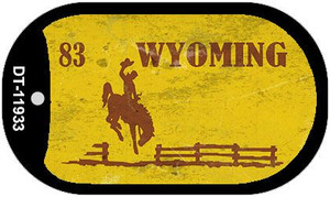 Wyoming Yellow Rusty Wholesale Novelty Metal Dog Tag Necklace DT-11933