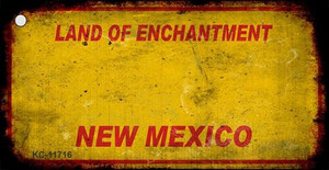 New Mexico Rusty Blank Wholesale Novelty Metal Key Chain KC-11716