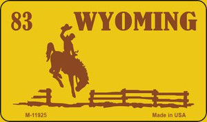 Wyoming Yellow Wholesale Novelty Metal License Plate LP-11925