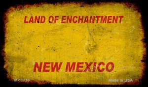 New Mexico Rusty Blank Wholesale Novelty Metal Magnet M-11716