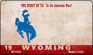 Wyoming Rusty Wholesale Novelty Metal Magnet M-11932