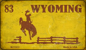 Wyoming Yellow Rusty Wholesale Novelty Metal Magnet M-11933