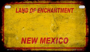 New Mexico Rusty Blank Wholesale Novelty Metal Motorcycle Plate MP-11716