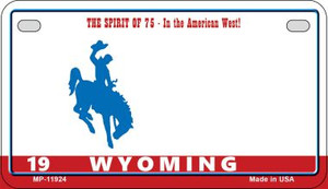 Wyoming Wholesale Novelty Metal Motorcycle Plate MP-11924