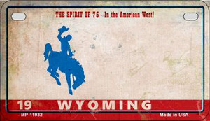 Wyoming Rusty Wholesale Novelty Metal Motorcycle Plate MP-11932