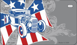 American Roadster Offset Wholesale Novelty Metal Motorcycle Plate MP-2346